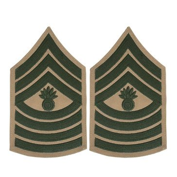 USMC Male Chevron Green on Khaki MGYSGT