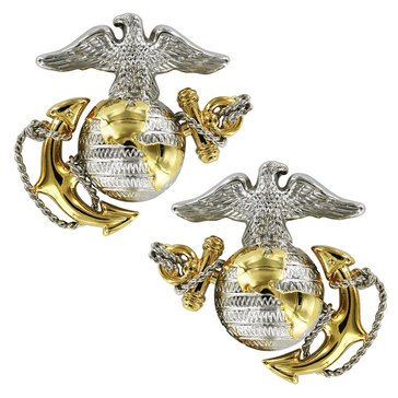 USMC Collar Device Hi-Dress Officer
