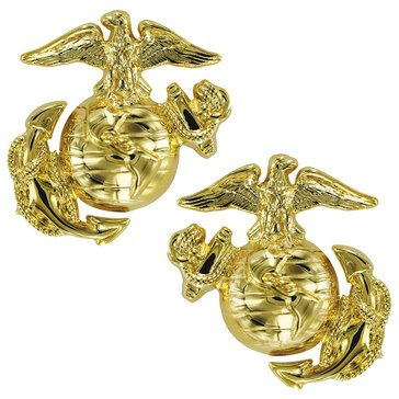 USMC Collar Device Hamilton Finish Dress ENL
