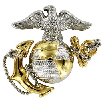 USMC Cap Device Gold Silver Dress Officer