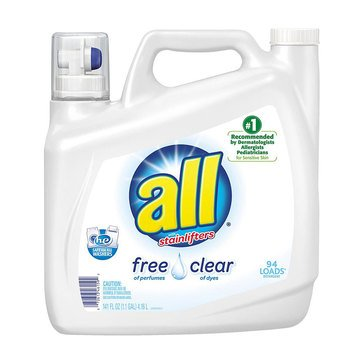 All Free Clear Liquid Laundry Detergent, 150oz