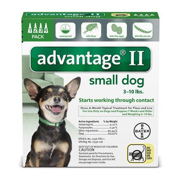 Advantage Flea Treatment for Dogs 3-10 lbs., 4 Treatments