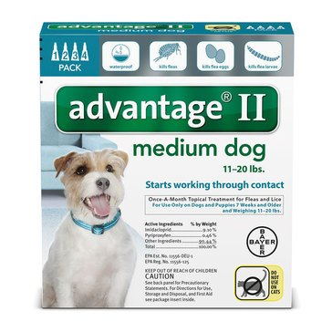 Advantage Flea Treatment for Dogs 11-20 lbs., 4 Treatments