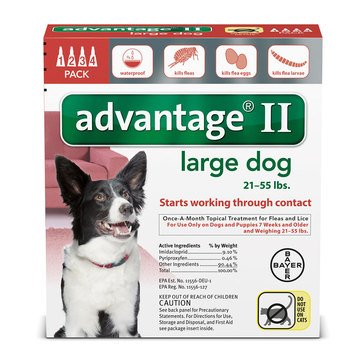 Advantage Flea Treatment for Dogs 21-55 lbs., 4 Treatments