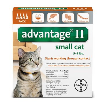 Advantage Flea Treatment for Cats Under 9 lbs., 4 Treatments