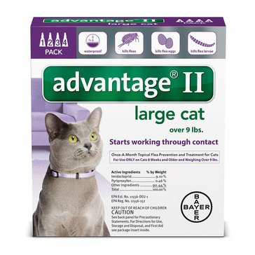 Advantage Flea Treatment for Cats Over 9 lbs., 4 Treatments