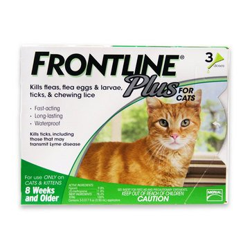 Frontline Plus For Cats 3-Pack Flea and Tick Treatments