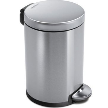 simplehuman 4.5 Liter Deluxe Step Can, Brushed