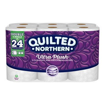 Quilted Northern Ultra Plush Bath Tissue 12 Double Rolls