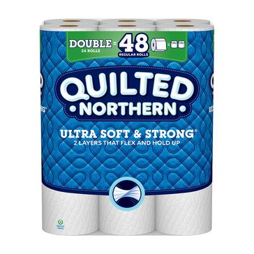 Quilted Northern Ultra Soft & Strong Bath Tissue, 24 Double Rolls