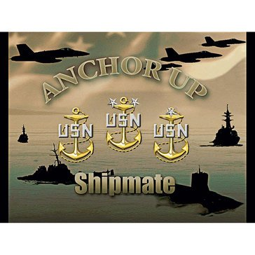 Pure Country USN Chief Anchor Up Shipmate Throw Blanket