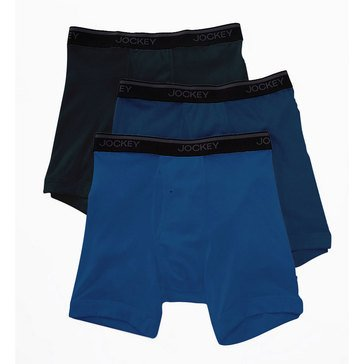 Jockey Men's Stay Cool Plus 3-Pack Midway Boxer Briefs