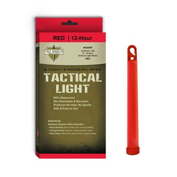 Tac Shield 12 Hour Tactical Light Sticks in Red