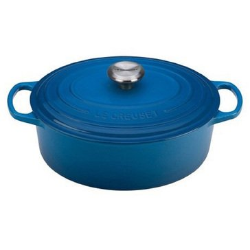 Le Creuset 5.5-Quart Round French Oven, Marseille Blue