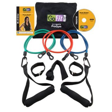 GoFit Ultimate Progym - 3 Tubes, 2 Handles, 2 Leg Straps, Dvd & Carry Bag
