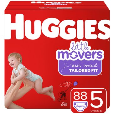 Huggies® Little Movers® 88-Pack Giant Pack Diapers, Size 5