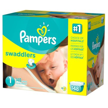 Pampers Swaddlers Giant-Pack 140-Count Diapers, Size 1