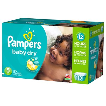 Pampers Baby Dry Giant-Pack 112-Count Diapers, Size 5