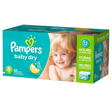 Pampers Baby Dry Giant-Pack 96-Count Diapers, Size 6