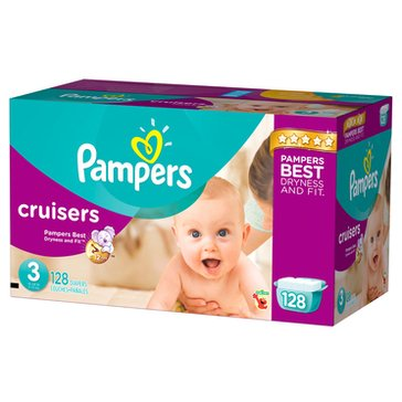 Pampers Cruisers Giant-Pack 120-Count Diapers, Size 3