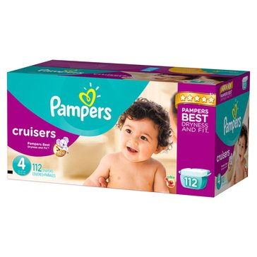 Pampers Cruisers Giant-Pack 104-Count Diapers, Size 4