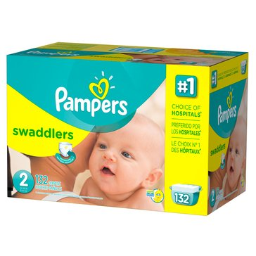 Pampers Swaddlers 132-Count Diapers, Size 2