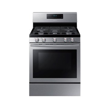Samsung 5.8-Cu.Ft. Gas Range with Convection, Stainless Steel (NX58H5600SS)