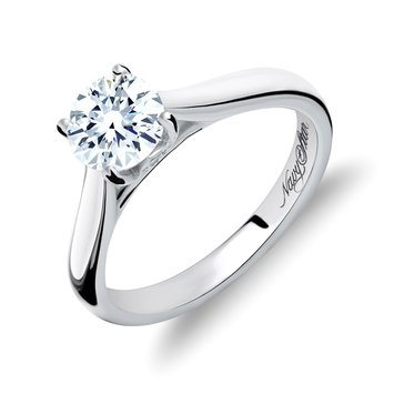 Navy Star 1 Cttw Solitaire Ring, 14K White Gold