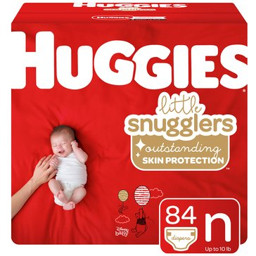 Huggies Little Snugglers Diapers - Size Newborn, 84-Count