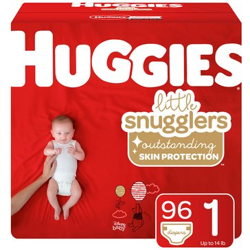 Huggies Little Snugglers Diapers - Size 1, 96-Count