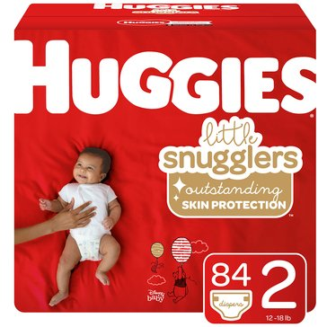 Huggies Little Snugglers Diapers - Size 2, 84-Count
