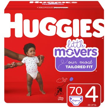 Huggies® Little Movers® 70-Pack Super Pack Diapers, Size 4