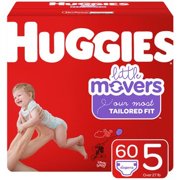 Huggies® Little Movers® 60-Pack Super Pack Diapers, Size 5