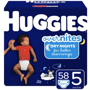 Huggies Overnites Little Movers, Size 5 - Super Pack 66-Count