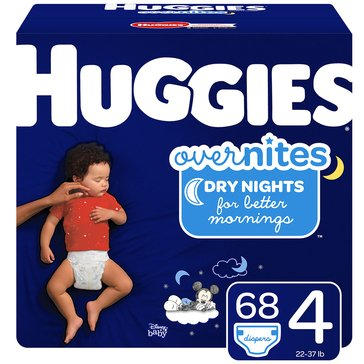 Huggies® Little Movers® Overnites 68-Pack Super Pack Diapers, Size 4