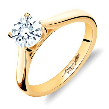 Navy Star 14K Yellow Gold 1/2 cttw Solitaire Ring