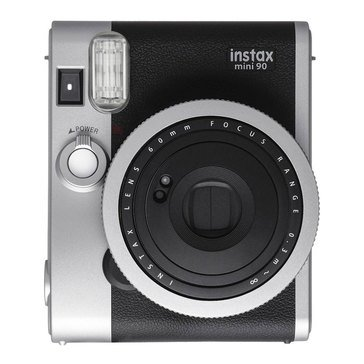 Fuji Instax Mini 90 Classic Instant Camera with 60MM Retractable Lens/ Black