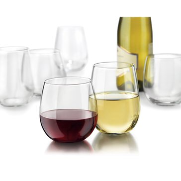 Libbey Stemless Wine Glasses, Set of 12
